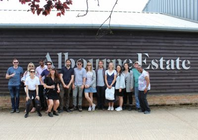 Group wine tour at Albourne Estate