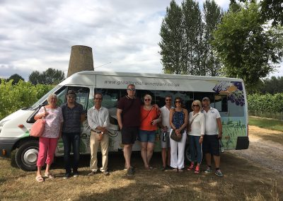 group wine tour at Nutbourne Vineyards