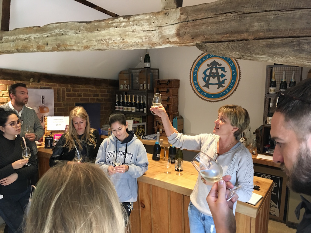 Tutored wine tasting  at Albourne Estate with Alison Nightingale