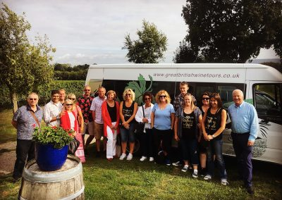 Summer evening wine tour at Nutbourne Vineyards