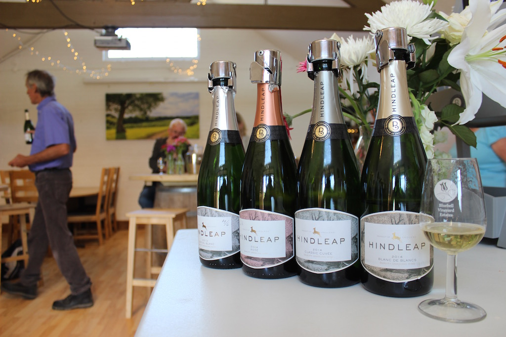 Selection of sparkling wines at Bluebell Vineyard Estate
