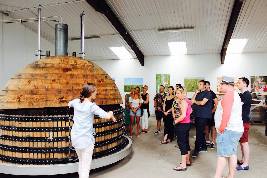 Coquard Press inside the winery at Wiston Estate