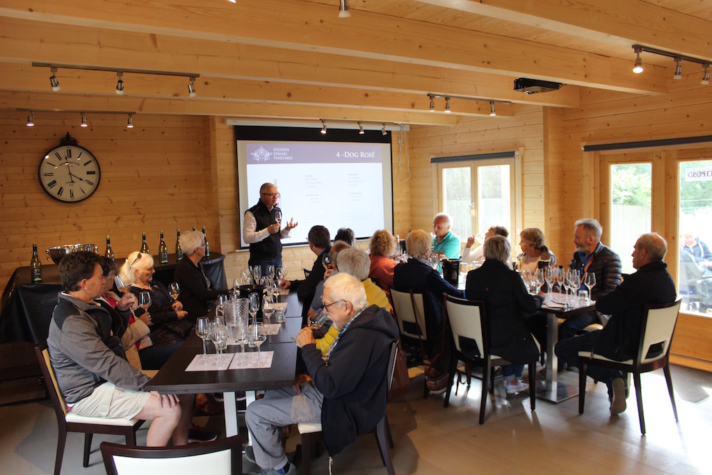 Hidden Spring vineyard tutored tasting