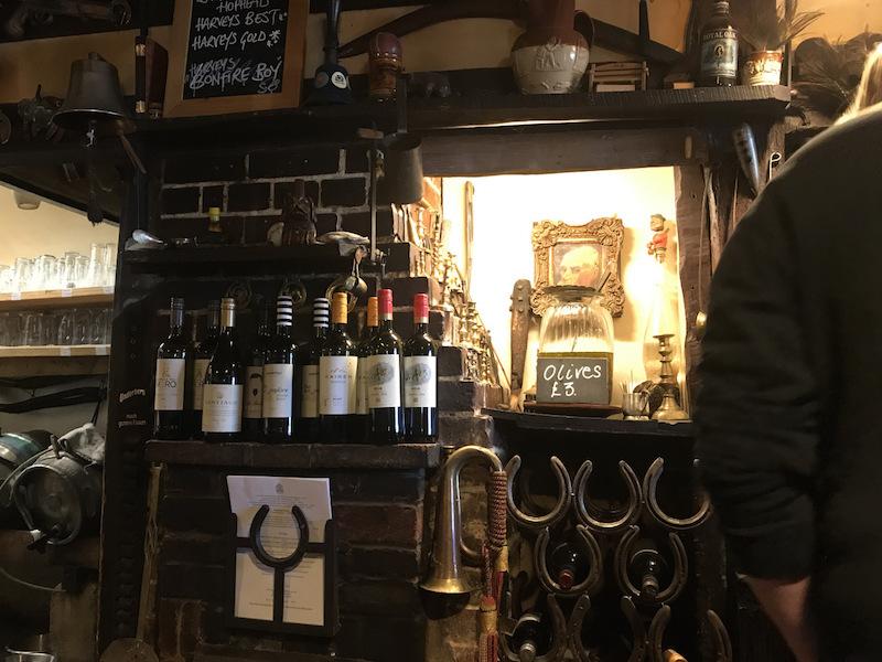 Inside the bar at the-royal-oak-wineham
